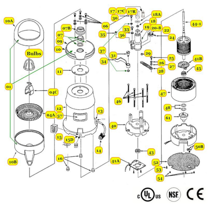 Commercial Juicer Parts