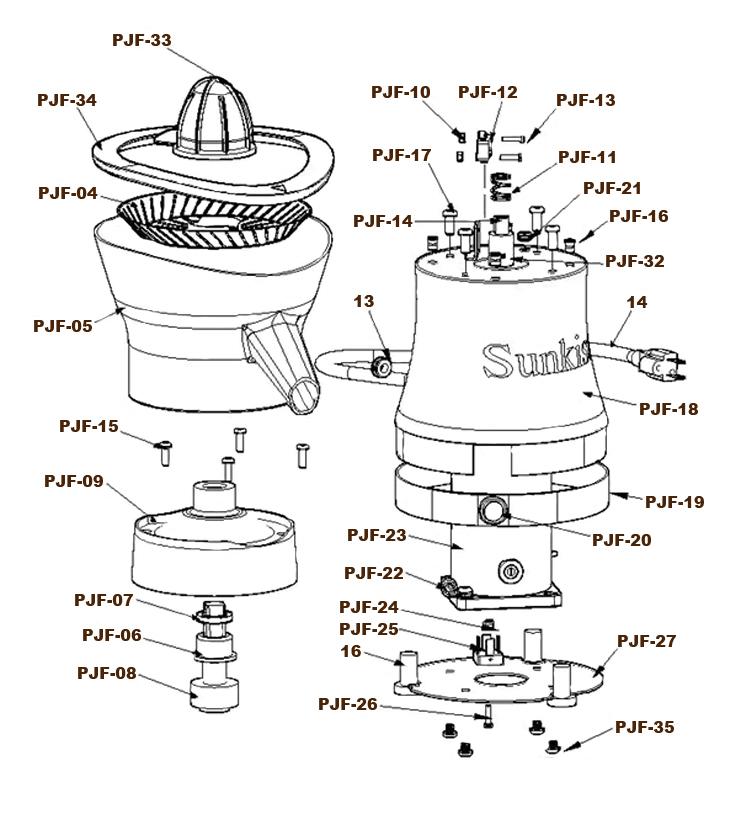 Pro Juicer Parts