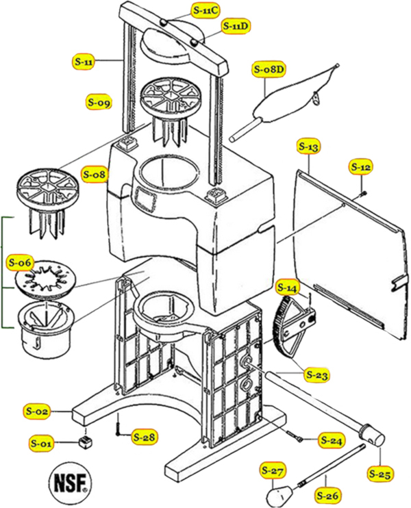 Commercial Sectionizer Parts