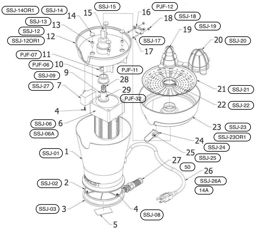 Signature Juicer parts