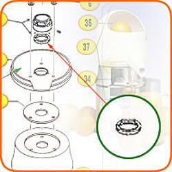 Umbrella Ring Gasket (incl'd w/7) (not illustrated)